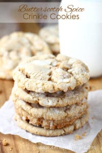Butterscotch Spice Crinkle Cookies