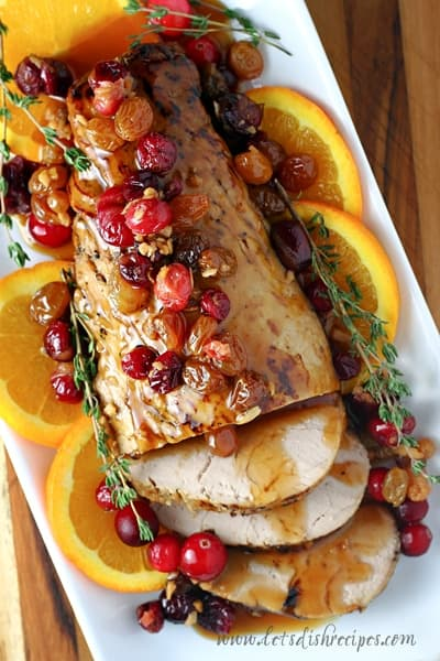 Slow Cooker Cranberry Orange Pork Tenderloin