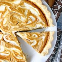 Pumpkin Cream Cheese Swirl Pie