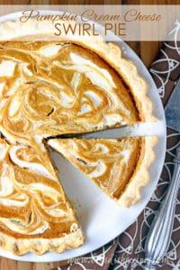 Pumpkin Cream Cheese Swirl Pie
