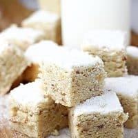 Russian Teacake Squares