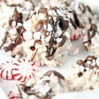 White Chocolate Peppermint Pretzel Candy