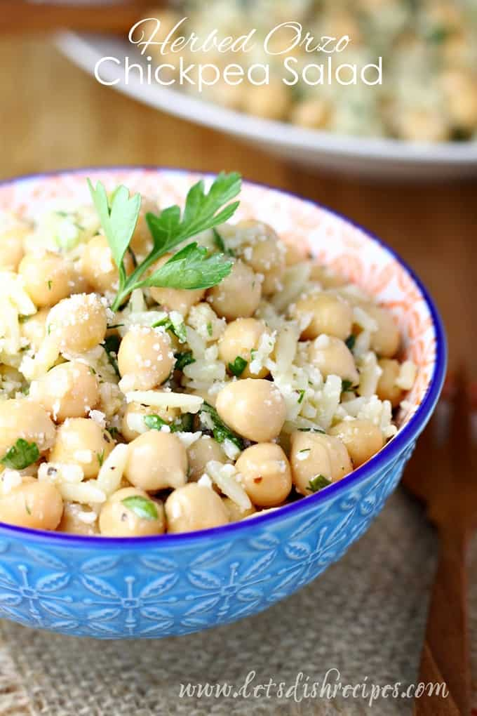 Herbed Orzo Chickpea Salad