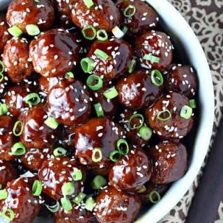 Slow Cooker Teriyaki Meatballs