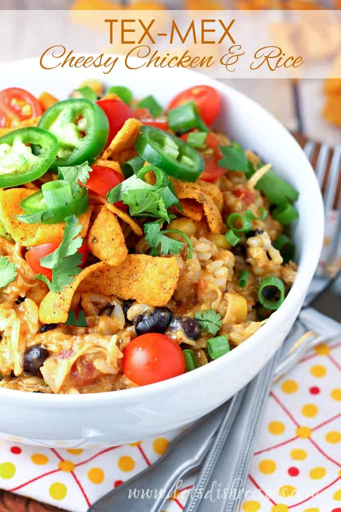Slow Cooker Tex-Mex Cheesy Chicken and Rice