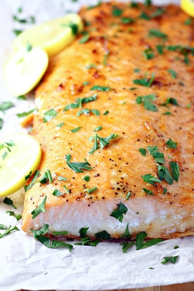 Brown Sugar Lemon Garlic Butter Salmon