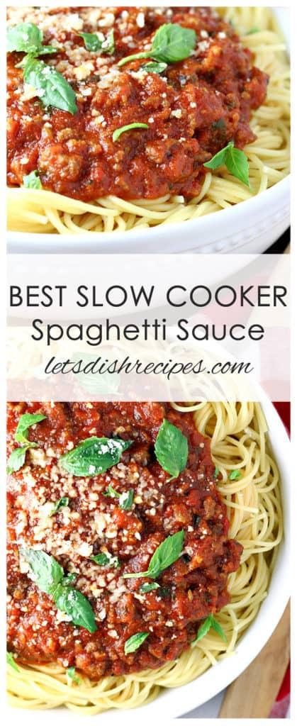 Best Slow Cooker Spaghetti Sauce