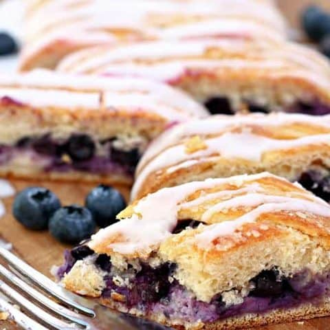 Easy Blueberry Cream Cheese Braid