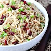 Cranberry Almond Rice Pilaf