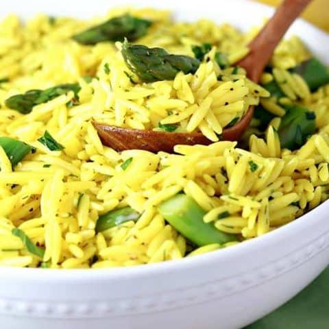 Lemon Orzo Asparagus Salad