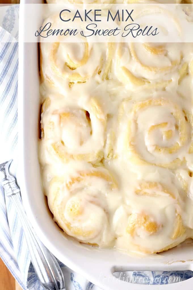 Cake Mix Lemon Sweet Rolls