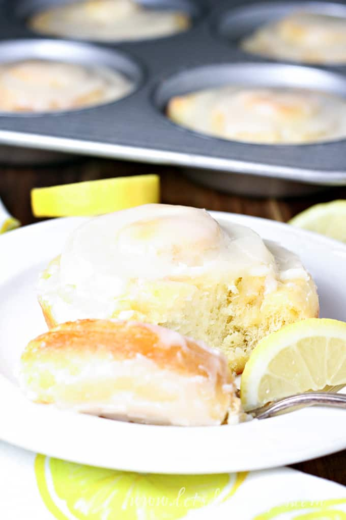 Cake Mix Lemon Sweet Rolls