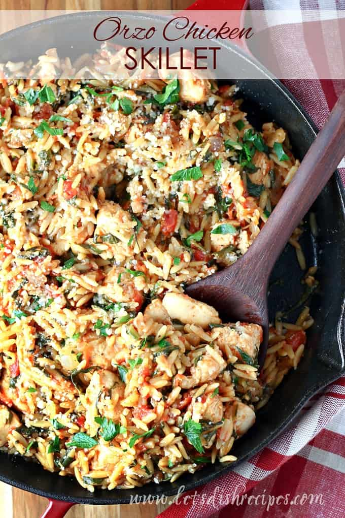 Orzo Chicken Skillet
