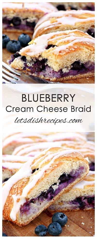 Easy Blueberry Cream Cheese Braid
