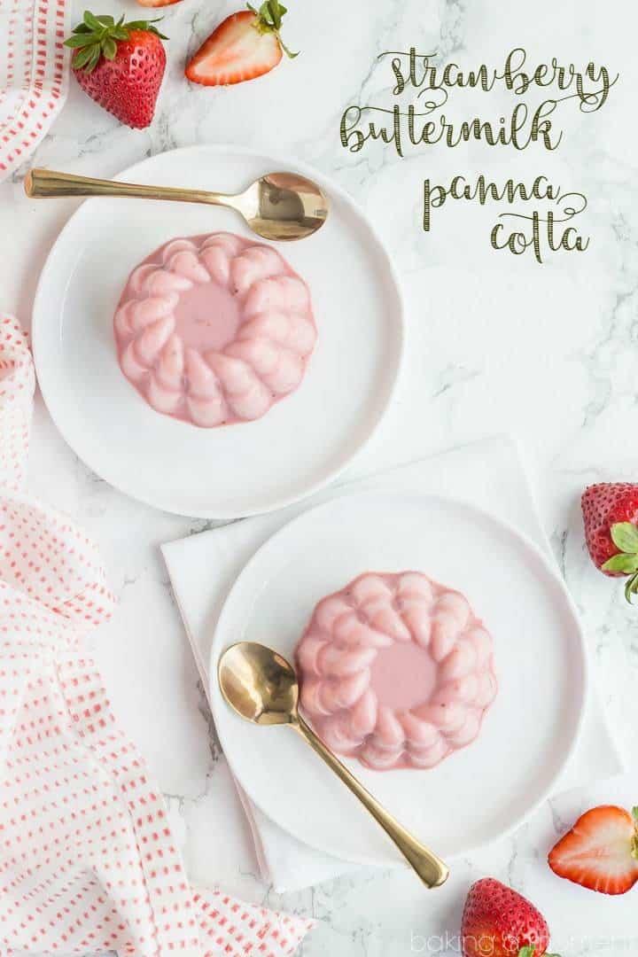 Strawberry Buttermilk Panna Cotta