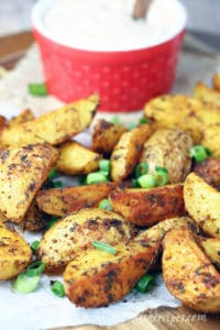 Cajun Roasted Potatoes with Creole Dipping Sauce