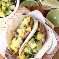 Slow Cooker Caribbean Jerk Pulled Pork Tacos