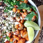 Roasted Sweet Potato Chickpea Grain Bowls