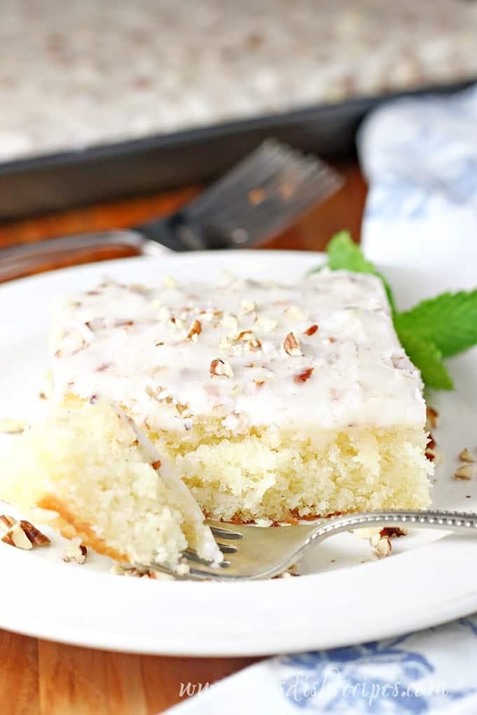 White Texas Sheet Cake Let S Dish Recipes