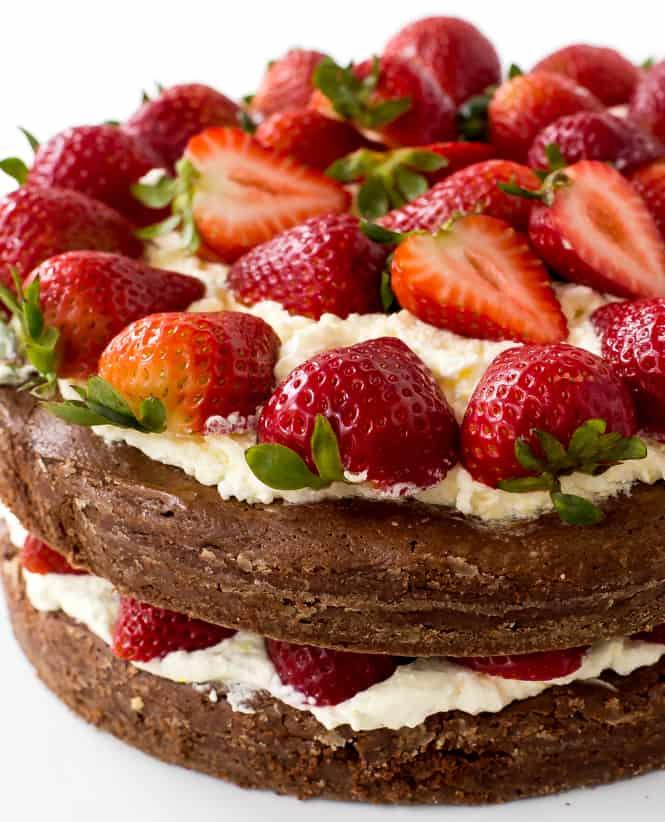 Brownie Strawberry Shortcake