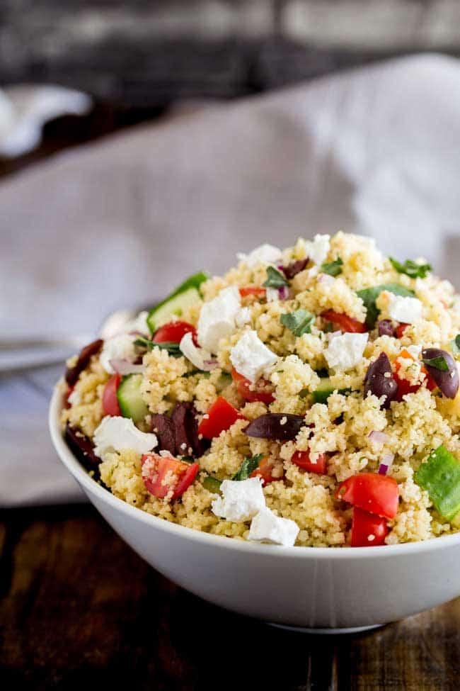 10 Minute Greek Cous Cous Salad