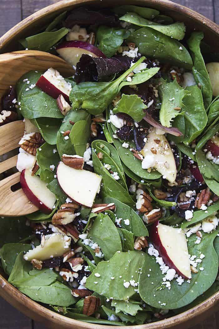 Apple Cranberry Feta Pecan Salad