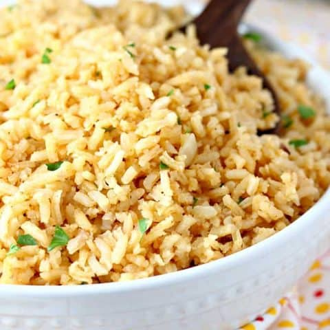 Copycat Restaurant Style Mexican Rice Let S Dish Recipes