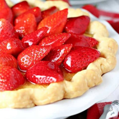 Strawberry Buttermilk Pie