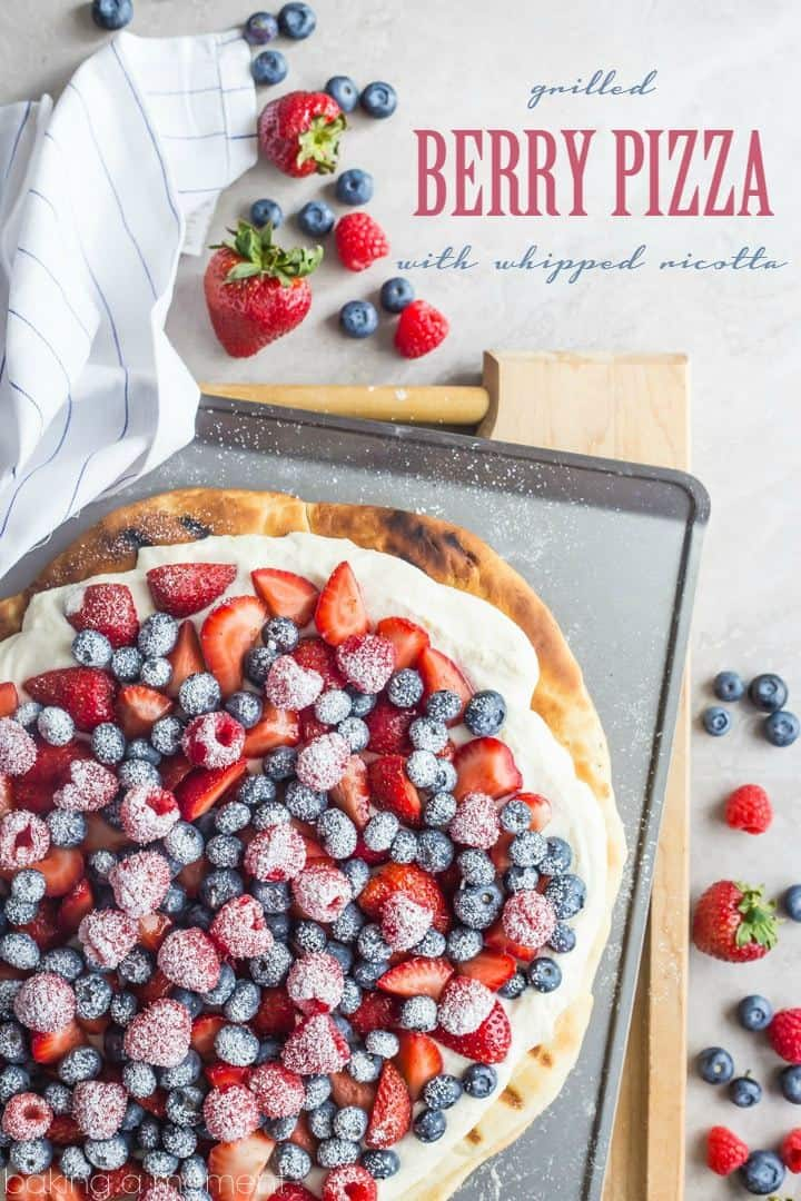 Grilled Berry Pizza with Whipped Ricotta