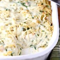 Baked Chicken Spinach Spaghetti