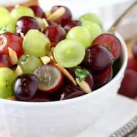 Red and Green Grape Salad with Honey Lemon Dressing