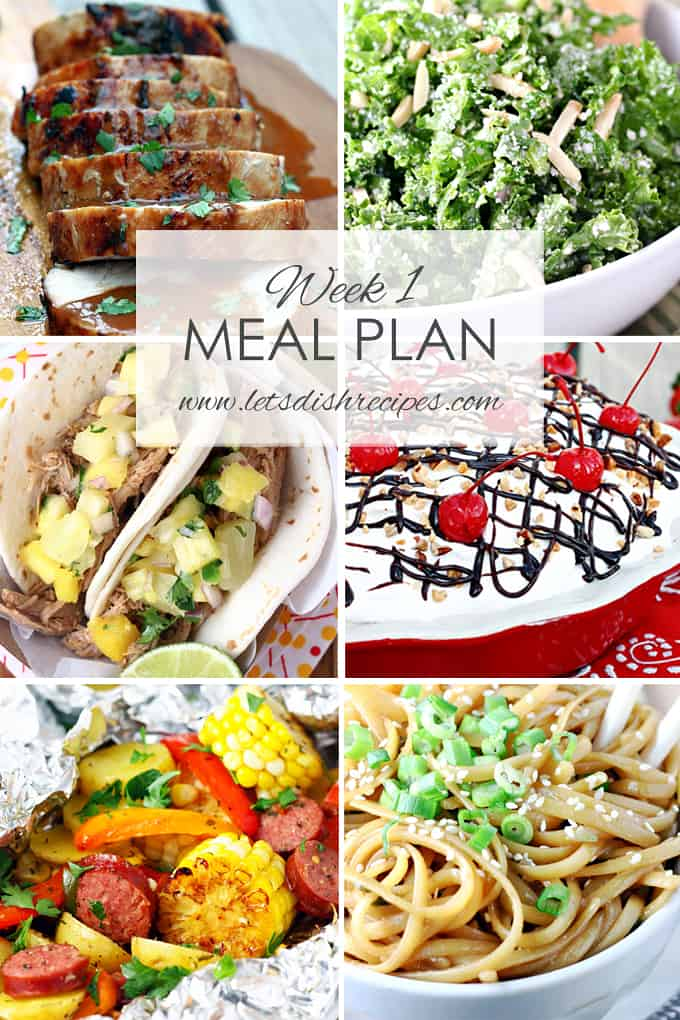 Easy Meal Plan Week 1