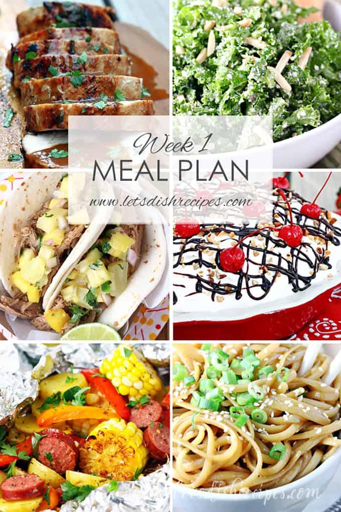 Easy Meal Plan Week 1