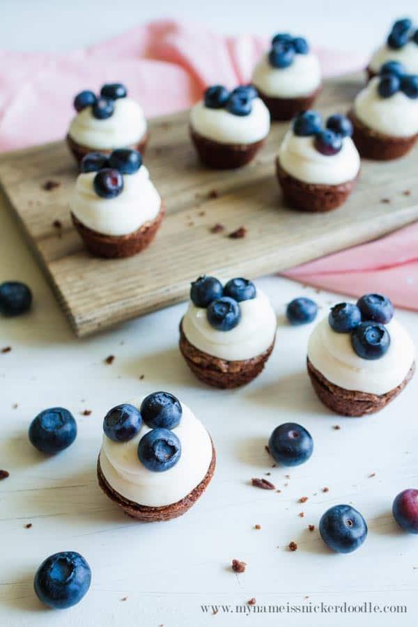 Mini Blueberry Brownie Bites
