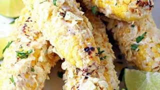 Potato Chip Crusted Grilled Corn
