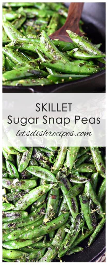 Skillet Sugar Snap Peas
