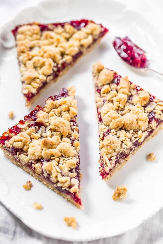 Raspberry Oatmeal Crumble Bars