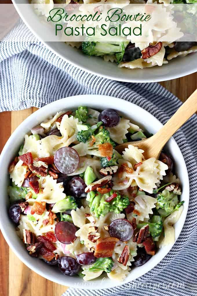 Broccoli Bowtie Pasta Salad