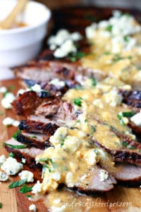 Grilled Flank Steak with Buffalo Blue Cheese Butter