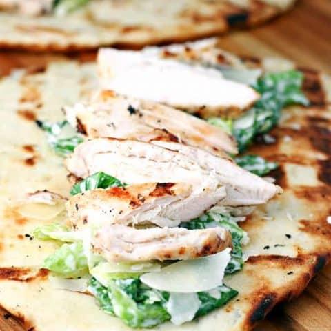 Grilled Chicken Caesar Flatbreads