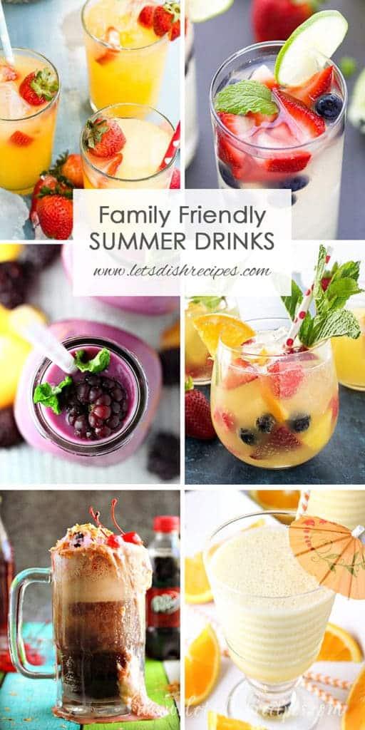 Family Friendly Summer Drinks