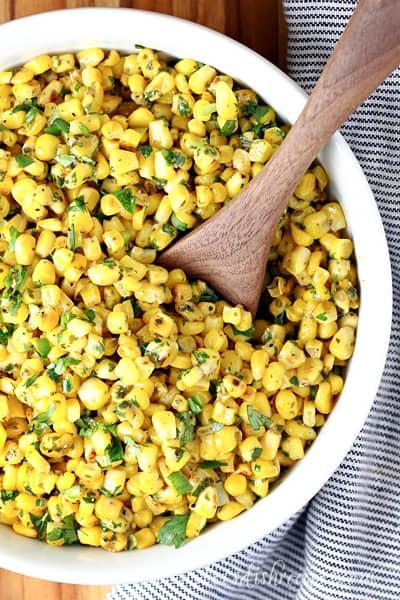 Grilled Pesto Corn