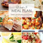 Easy Meal Plan Week 3