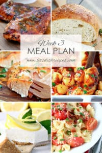 Easy Meal Plan Week 3