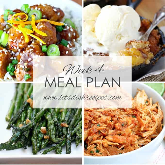Easy Meal Plan Week 4