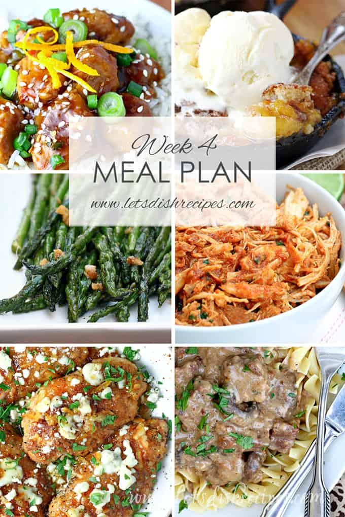 Easy Meal Plan Week 4
