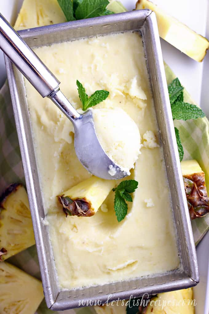 Pineapple Coconut Ice Cream