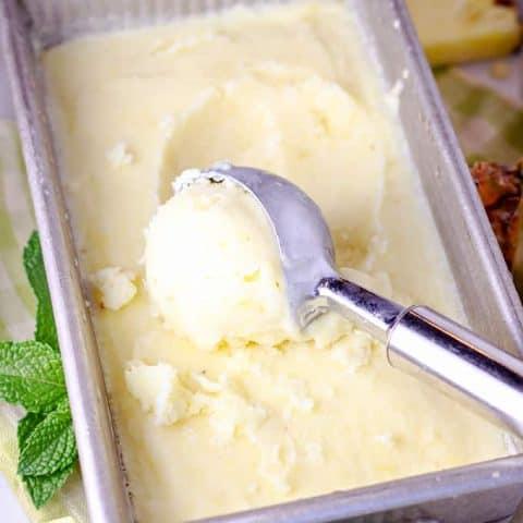 Pineapple Coconut Ice Cream