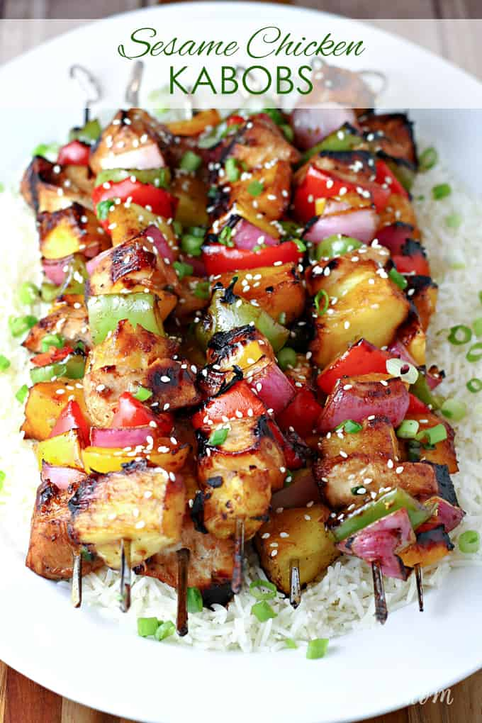 Grilled Sesame Chicken Kabobs Let S Dish Recipes