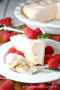 Frozen Raspberry Lemonade Pie
